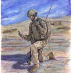 """British Soldier Helmand Afghanistan"" by phils-art"