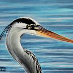"""The Great Blue Heron"" by ElizaArt"