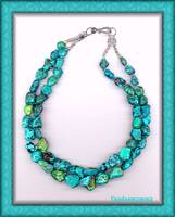 Double Strand Tibetan Turquoise Necklace