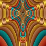 """Abstracdacrossmos Salsa"" by Dr_Roy_Schneemann"