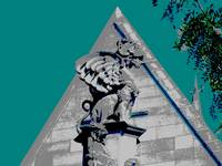 Gargoyle at Cobb Gate - University of Chicago