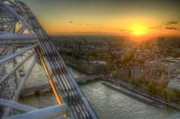 London Eye sunset