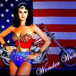 """wONDER WOMAN ON CANVAS"" by MGImaging"