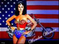 wONDER WOMAN ON CANVAS