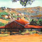 """Red Barn at the Ranch in San Diego"" by BeaconArtWorksCorporation"