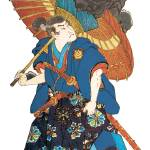 """""""Japanese Samurai Poster #90"""" by ArtLoversOnline"""