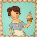 """Cupcake Waitress"" by vintageniki"