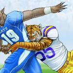"""Wildcats vs Tigers"" by ChucksArtBox"