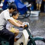 """Riding in the Rain with Dad Fine Art Photo"" by JonathanKingston"