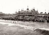 Neptune Casino at Santa Cruz Beach c1890 by WorldWide Archive