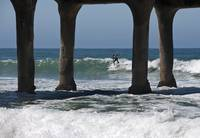 Surfing at the Pier