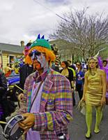 Serious Clown, Mardi Gras Day, New Orleans