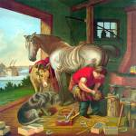 """SHOEING THE HORSE"" by homegear"