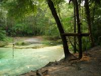 Rope Swing Platform at Waterhole