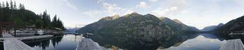 Stehekin Marina 280 Degree Dawn Panorama