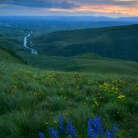 """Dusk over the Yakima Valley"" by Dawsonimages"