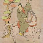 """Japanese Samurai warrior with sword on horseback"" by patrimonio"