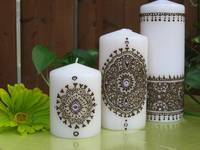 White Hennaed Candles
