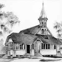 First Presbyterian Church Art Prints & Posters by Anne Rosenvald Moore