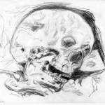 """skull drawing, copied from off the TV/Video"" by paul-ramnora"