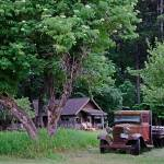 """Buckner Farmhouse & Truck in Drybrush"" by JohnChaoPhoto"