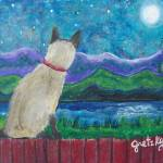 """Siamese Cat in the Moonlight"" by paintingsbygretzky"