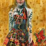 """Fashion Illustration, Butterfly Plaid"" by schulmanart"