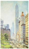 Lower Broadway in Wartime by Cooper