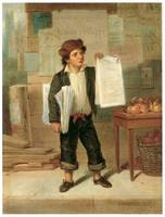Newsboy Selling New York Herald