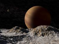 Gas Giant from Moon