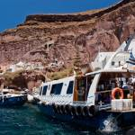 """Ferries from Santorini to cruiseships"" by tonymoran"