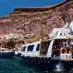 """Ferries from Santorini to cruiseships"" by tonymoran"