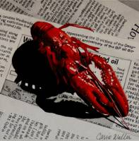 Crawfish on Newsprint