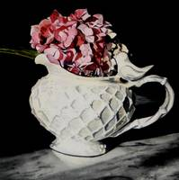 Hydrangeas in Bird Pitcher