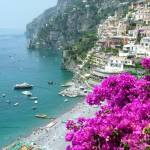 """Beach at Positano"" by DonnaCorless"