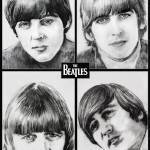 """The Beatles (B/W)"" by DanAvenell"