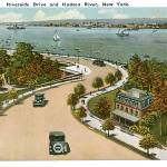 """Riverside Drive and Hudson River, New York"" by ArtLoversOnline"