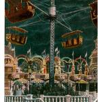 """Aerial Swing, Luna Park, Coney Island, New York"" by ArtLoversOnline"