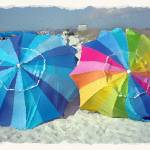 """Caladesi Beach Umbrellas"" by JayBee"