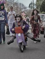 Scooter Girl on Mardi Gras Day, New Orleans