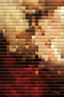 Modern Red and Gold Mosaic. Modern Art