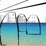 """""""Visitors at the beach"""" by keithcowleyart"""