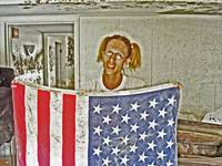 AMERICAN FLAG New Orleans Flood, Hurricane Katrina