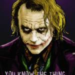 """Heath Ledger as The Joker"" by DanAvenell"
