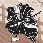 """Japanese Samurai warrior sword on bridge"" by patrimonio"