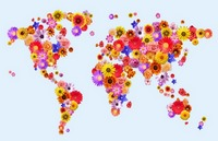 Flower World Map
