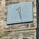 """Vertical Sundial on St Mary"