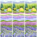 """farm fields in purple 3"" by studiobythesound"