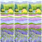 """farm fields in purple 3"" by studiobythesound"