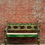 """Bench And Brick"" by photographicleigh"